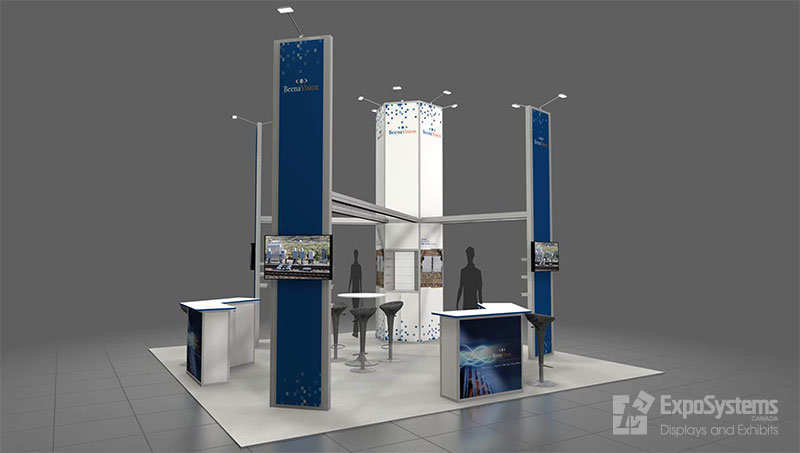 20 x 20 booth design exposystems canada exhibits and. Black Bedroom Furniture Sets. Home Design Ideas