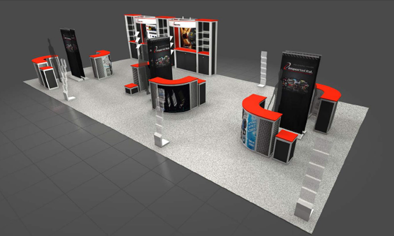 Large Booth Design Exposystems Canada Exhibits And